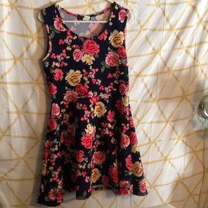 Gorgeous bright floral party dress XL